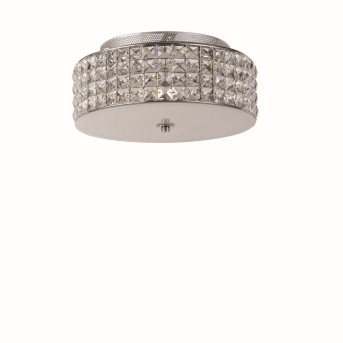 Ideal Lux ROMA Ceiling Light chrome, Crystal optics, 4-light sources