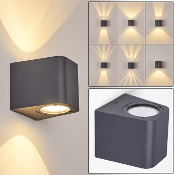 MAPUTO Outdoor Wall Light LED anthracite, 2-light sources