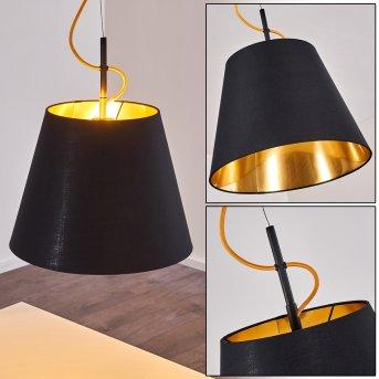 Saillon Pendant Light black, 1-light source