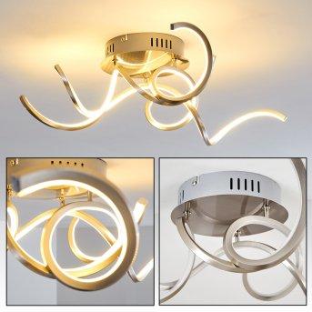 MOSKAU ceiling light LED matt nickel, 1-light source