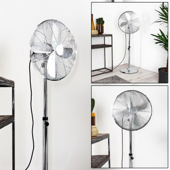 NIORT standing fan chrome