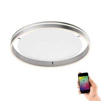 Paul Neuhaus Q-VITO Ceiling Light LED stainless steel, 1-light source, Remote control