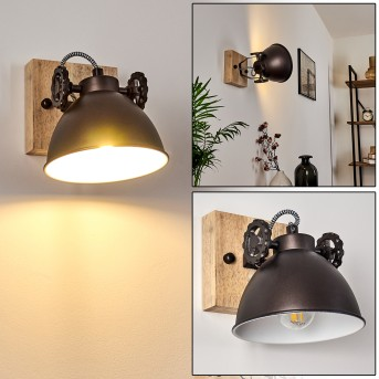 SVANFOLK Ceiling Light black, brown, white, 1-light source