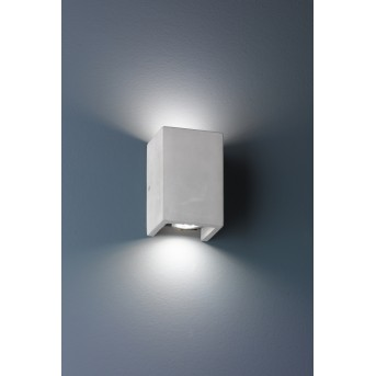 Trio CUBE Wall Light grey, 2-light sources