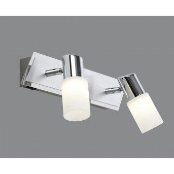 Trio 8214 wall light LED chrome, aluminium, stainless steel, 2-light sources
