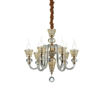 Ideal Lux STRAUSS Chandelier gold, 6-light sources