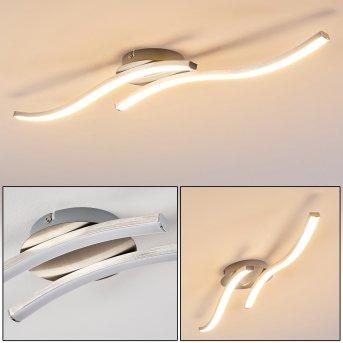 Nendaz Ceiling Light LED matt nickel, 2-light sources