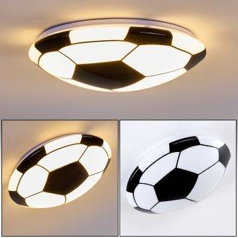 Sakka Ceiling Light LED black, white, 1-light source