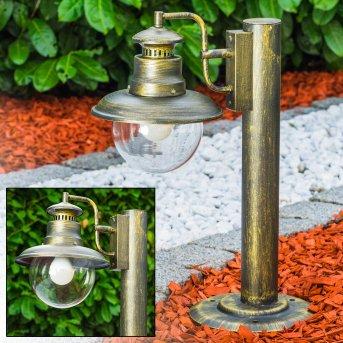 FOX Pedestal Light antique brass, black-gold, 1-light source