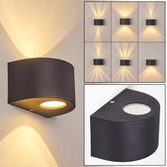 WINDHOEK Outdoor Wall Light LED anthracite, 2-light sources