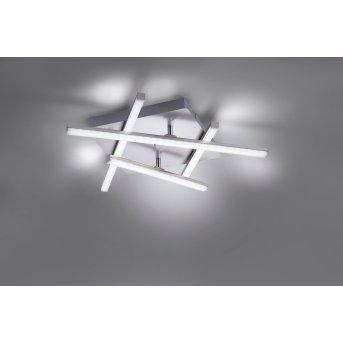 Leuchten Direkt LOLA-SIMON Ceiling Light LED stainless steel, 2-light sources, Remote control, Colour changer