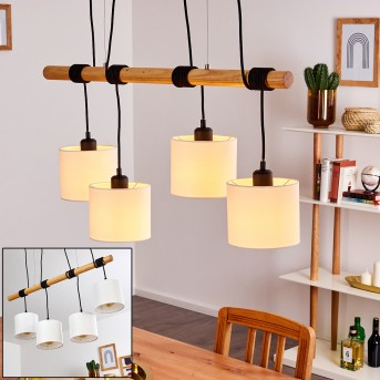 SAMBIA Pendant Light black, brown, 4-light sources