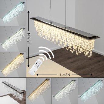 Slidre Pendant Light LED chrome, 1-light source, Remote control