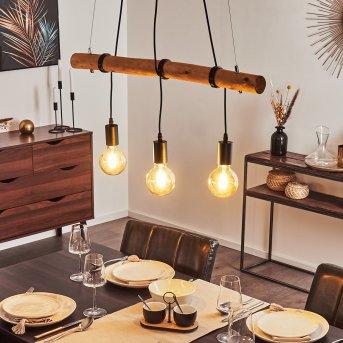 SEEGAARD Pendant Light black, Light wood, 3-light sources