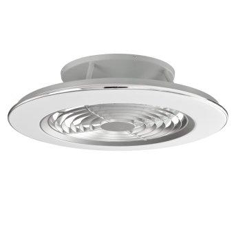 Ceiling fan Mantra ALISIO LED chrome, grey, 1-light source, Remote control