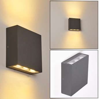 TINGLEV Outdoor Wall Light LED anthracite, 1-light source