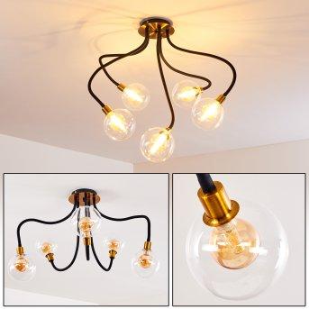 Ceiling Light Hovslund LED black, gold, 5-light sources