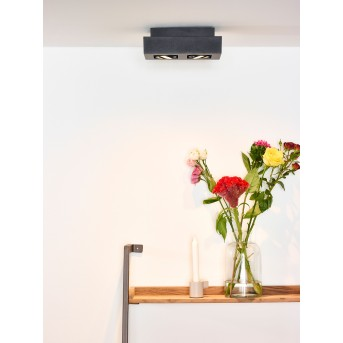 Ceiling Spotlight Lucide XIRAX LED black, 2-light sources