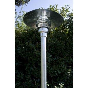 Nordlux Vejers lamppost transparent, clear, galvanized, 1-light source