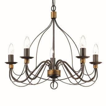 Ideal Lux CORTE Chandelier rust-coloured, 5-light sources