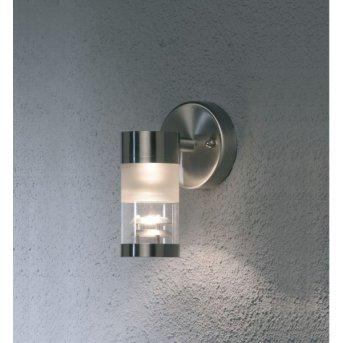 Konstsmide BOLZANO wall light stainless steel, 1-light source