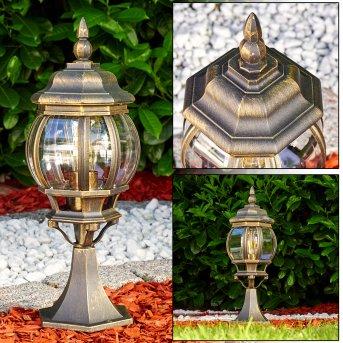 Lentua Pedestal Light brown, gold, 1-light source