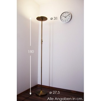 Trio 4291 floor lamp LED brass, 1-light source