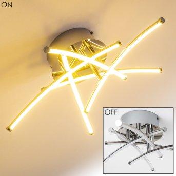 KORTEZUBI Ceiling Light LED chrome, 1-light source