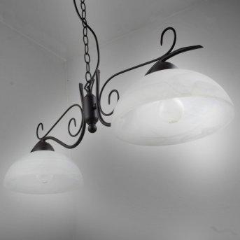 Reality pendant light rust-coloured, 2-light sources