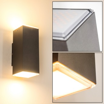 Laxa Outdoor Wall Light LED silver, 2-light sources