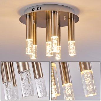 Basvuly Ceiling Light LED matt nickel, 6-light sources