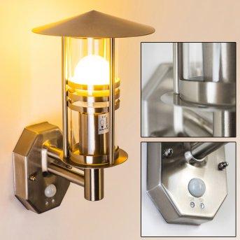 Forli wall light stainless steel, 1-light source, Motion sensor