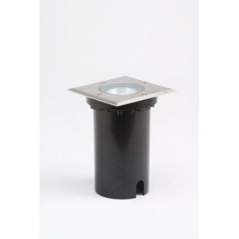 Konstsmide recessed ground light stainless steel, 1-light source