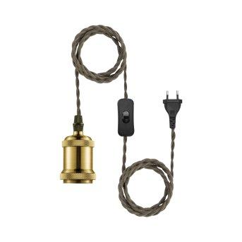 Leuchten Direkt HOLD IT Cable set brass, 1-light source