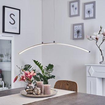 VIDSEL Pendant Light LED brushed steel, 1-light source
