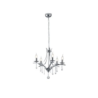 chandelier Trio Leuchten LUCERNA chrome, 5-light sources