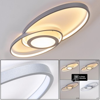 Chunky Ceiling Light LED silver, 1-light source