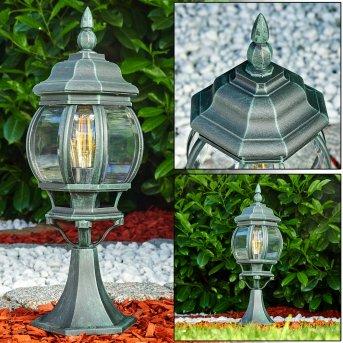 Lentua Pedestal Light black, green , 1-light source