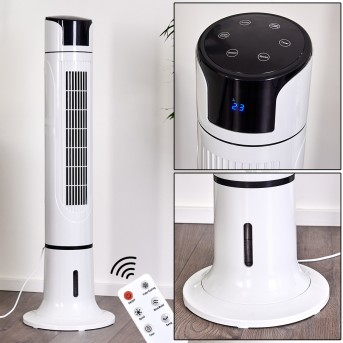 URBINO TOWER standing fan black, white, Remote control