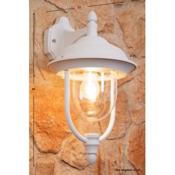 Konstsmide PARMA wall light white, transparent, clear, 1-light source
