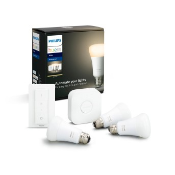 Philips HUE LED White E27 Sarter-Set of 3, 2700 Kelvin