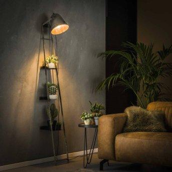 LISSE Wall shelf lamp black, grey, 1-light source