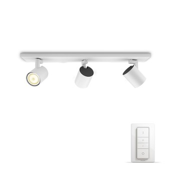 Philips HUE AMBIANCE WHITE RUNNER Spotlight base set white, 3-light sources, Remote control