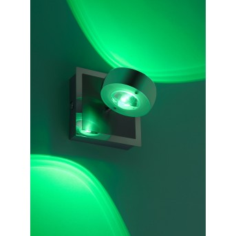 Wall Light Leuchten Direkt Ls-OPTI LED stainless steel, 2-light sources, Remote control, Colour changer