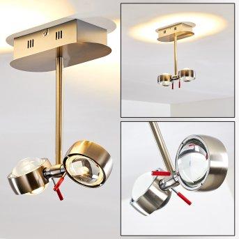 Florenz ceiling light LED matt nickel, 2-light sources