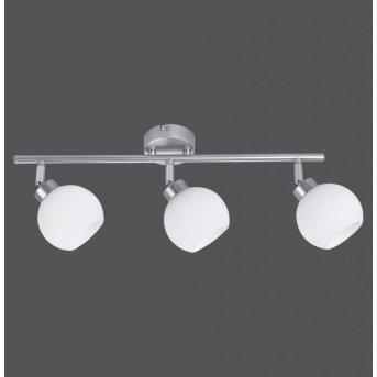 Leuchten-Direkt LOTTA ceiling light silver, 3-light sources