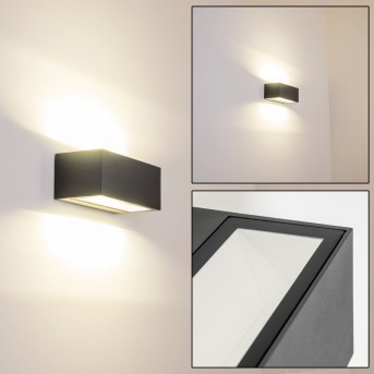 GEMINI Outdoor Wall Light LED anthracite, 1-light source