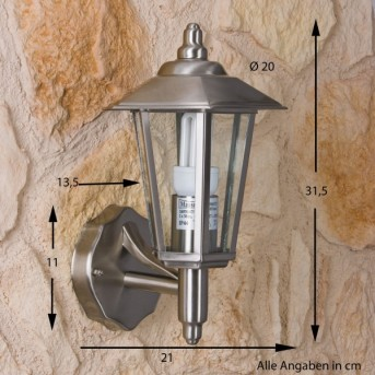 Massive - Philips Galveston outdoor wall light stainless steel, transparent, clear, 1-light source