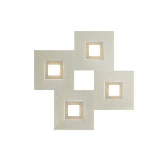 Grossmann KARREE Wall and Ceiling Light LED aluminium, champagne, 4-light sources