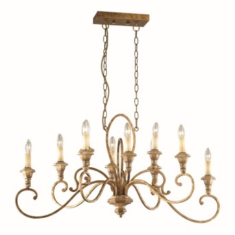 Ideal Lux CORTINA Chandelier rust-coloured, 10-light sources
